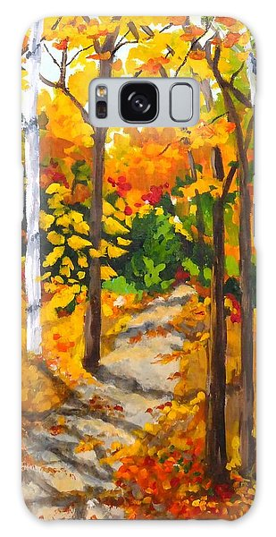 Autumn Forest Trail Galaxy Case