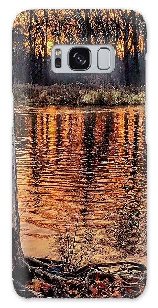 Autumn Gold Galaxy Case