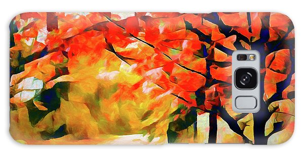 Glorious Foliage On The Rail Trail - Abstract Galaxy Case