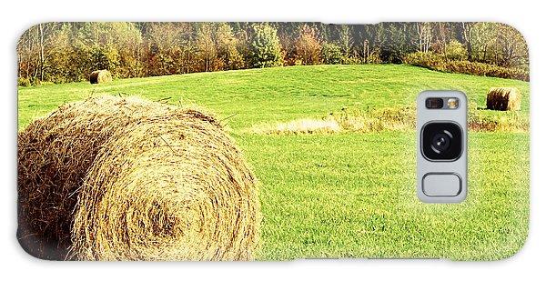 Autumn Hay Bales  Galaxy Case