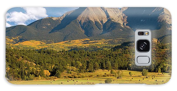 Autumn Hay In The Rockies Galaxy Case