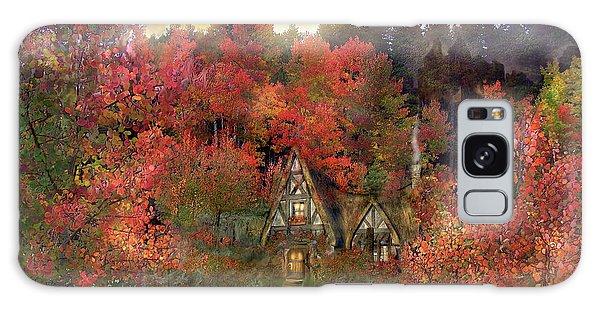 Cottage Galaxy Case - Autumn Hideaway by Carol Cavalaris