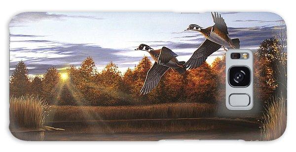 Autumn Home - Wood Ducks Galaxy Case