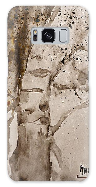Autumn Human Face Tree Galaxy Case by AmaS Art