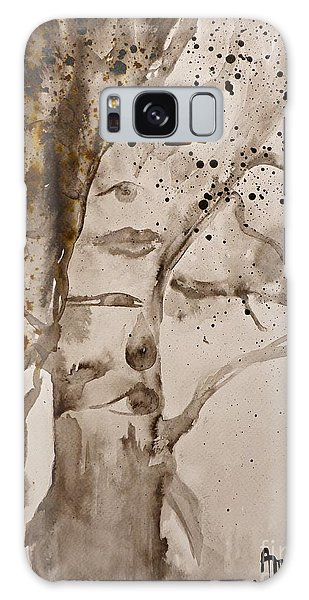 Autumn Human Face Tree Galaxy Case by AmaS Art