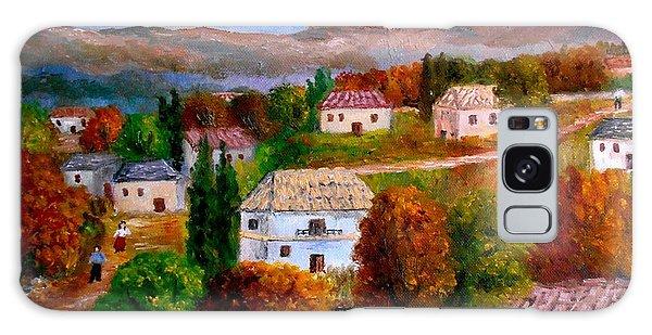 Autumn In Greece Galaxy Case