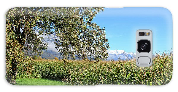 Autumn In Swiss Mountain Landscape Galaxy Case