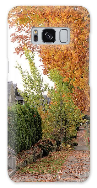 Autumn In The City Galaxy Case