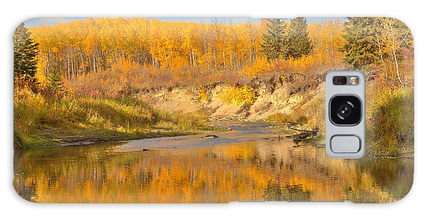Autumn In Whitemud Ravine Galaxy Case by Jim Sauchyn
