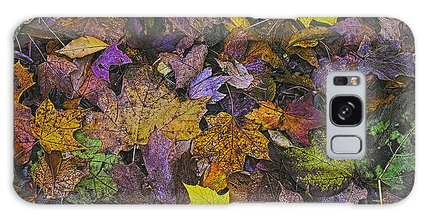 Autumn Leaves At Side Of Road Galaxy Case by John Hansen