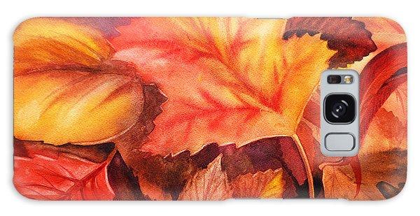 Autumn Leaves Galaxy Case by Irina Sztukowski