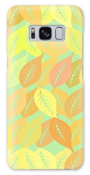Fall Galaxy Case - Autumn Leaves Pattern by Gaspar Avila