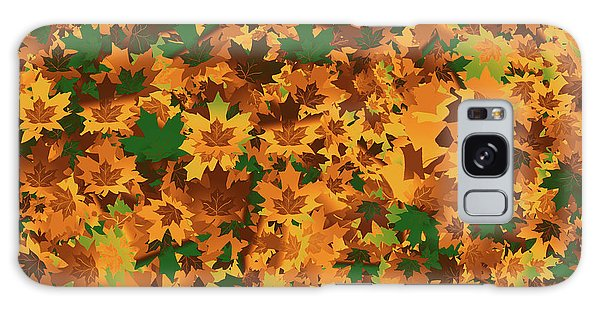 Autumn Leaves Pattern Galaxy Case by Methune Hively