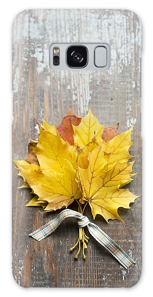 Autumn Leaves Tied With Ribbon Galaxy Case