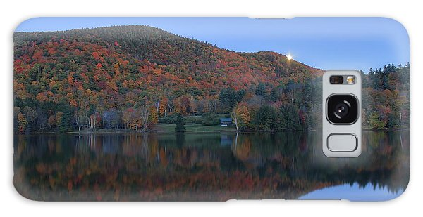 Autumn Moonrise In The Green Mountains Galaxy Case by John Burk