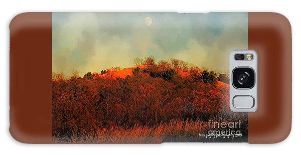 Autumn Moonrise Galaxy Case