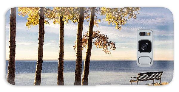 Autumn Morn On The Lake Galaxy Case