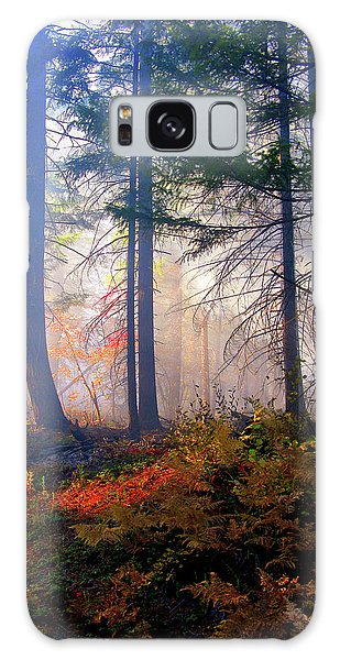 Autumn Morning Fire And Mist Galaxy Case