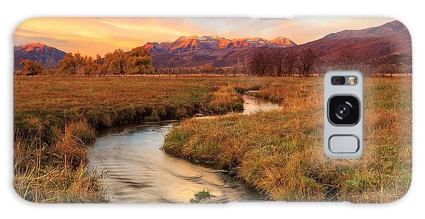 Autumn Morning In Heber Valley. Galaxy Case
