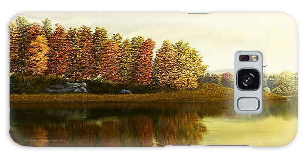 Autumn Morning Galaxy Case by Kathie Miller