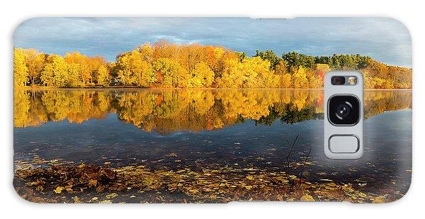 Autumn Morning Reflection On Lake Pentucket Galaxy Case