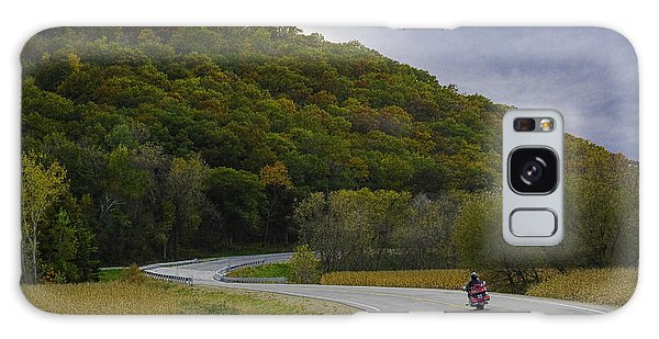 Autumn Motorcycle Rider / Red Galaxy Case