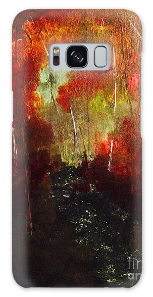 Galaxy Case featuring the painting Sunset Trail by Denise Tomasura