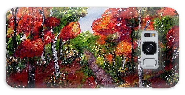 Galaxy Case featuring the painting Autumn Path by Sonya Nancy Capling-Bacle