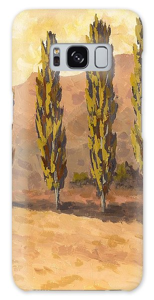 Autumn Poplars Galaxy Case