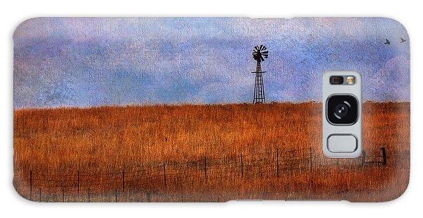 Autumn Prairie Windmill Galaxy Case