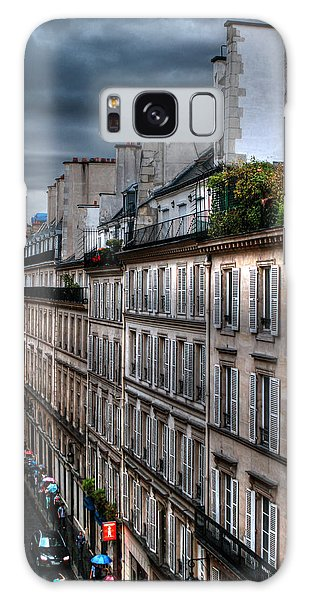 Autumn Rain Paris France Galaxy Case by Tom Prendergast