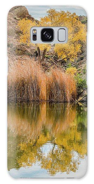 Autumn Reflection At Boyce Thompson Arboretum Galaxy Case