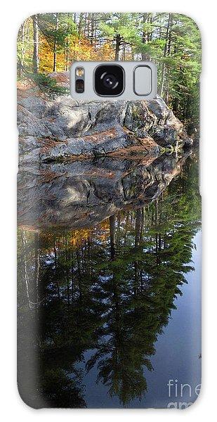 Autumn Reflections At Runaround Pond In Durham Maine  -20224 Galaxy Case