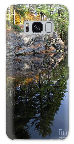Autumn Reflections At Runaround Pond In Durham Maine  -20224 Galaxy Case