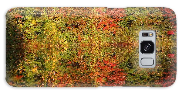 Autumn Reflections In A Pond Galaxy Case