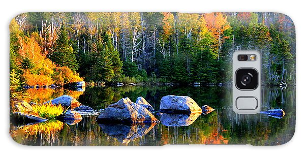 'autumn Reflections - Noyes Pond' Galaxy Case