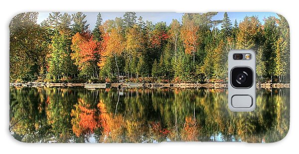 Autumn Reflections Of Maine Galaxy Case