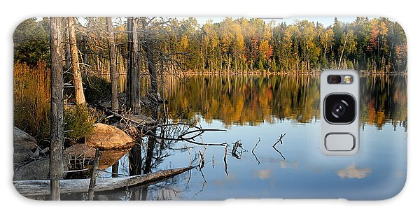 Autumn Reflections On Little Bass Lake Galaxy Case