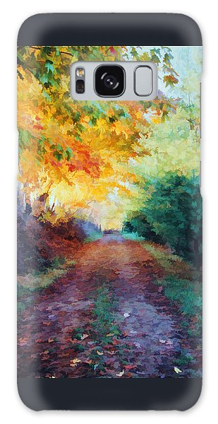 Autumn Road Galaxy Case