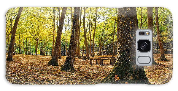 Picnic Table Galaxy Case - Autumn Scenery by Carlos Caetano