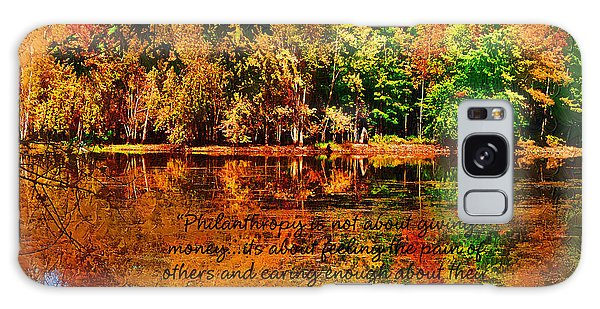 Autumn Serenity Philanthropy Painted Galaxy Case by Diane E Berry
