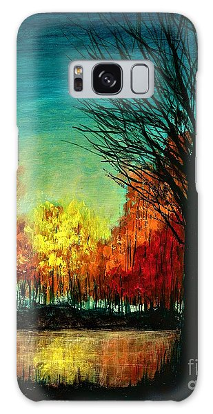 Autumn Silhouette  Galaxy Case