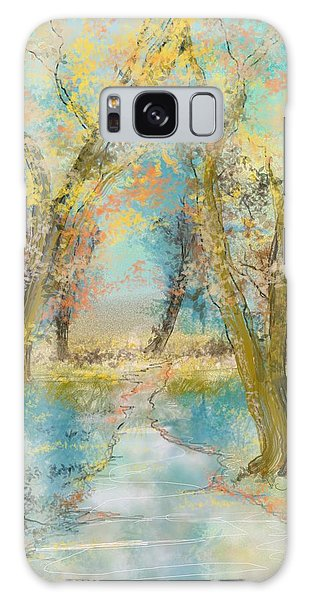 Autumn Sketch Galaxy Case