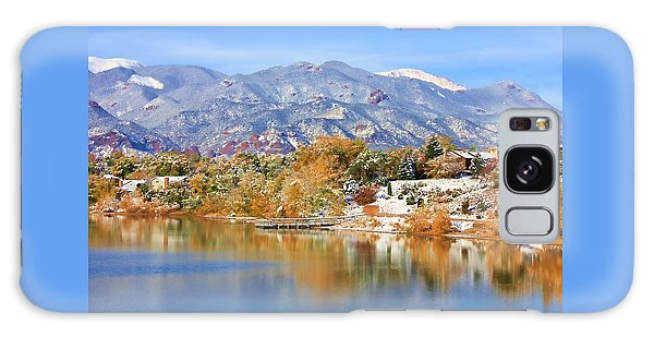 Autumn Snow At The Lake Galaxy Case by Diane Alexander
