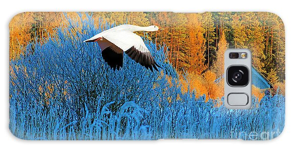 Goose Galaxy Case - Autumn Snow Goose by Laura D Young