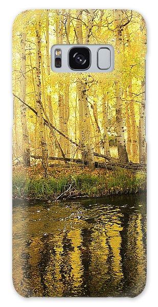 Autumn Soft Light In Stream Galaxy Case