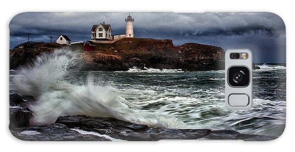 Autumn Storm At Cape Neddick Galaxy Case by Rick Berk
