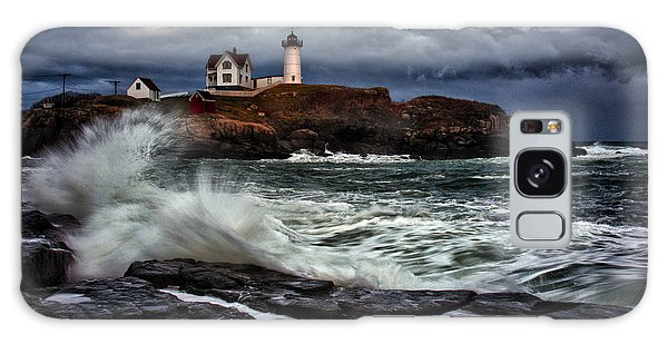 Autumn Storm At Cape Neddick Galaxy Case