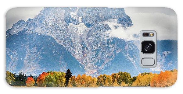 Autumn Storm Over Mount Moran Galaxy Case