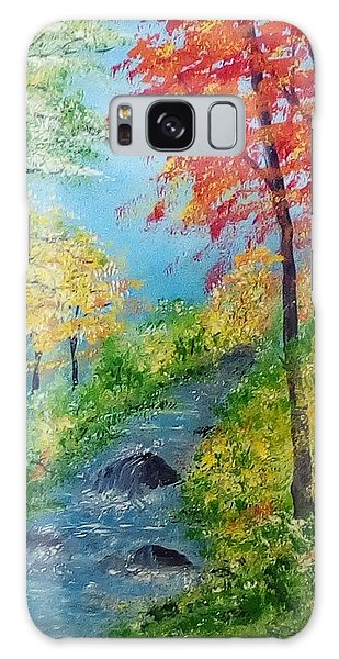 Galaxy Case featuring the painting Autumn Stream by Sonya Nancy Capling-Bacle